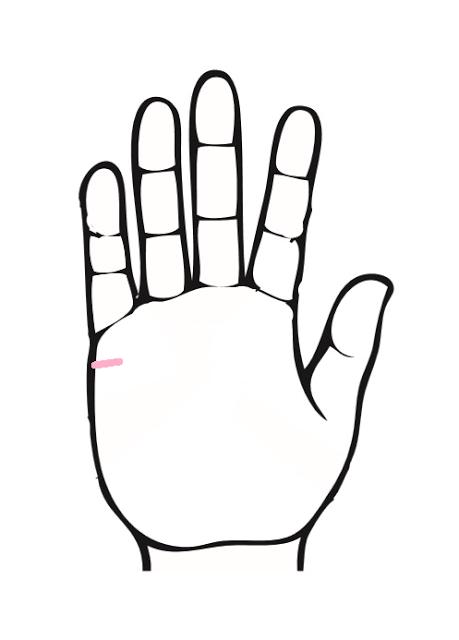 手相、結婚線がピンク色